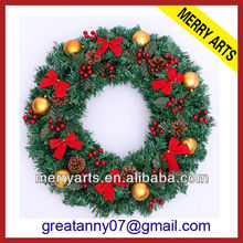 Alibaba wholesale christmas wreaths 10 inch wreaths and candle rings cheap christmas decoration wreaths