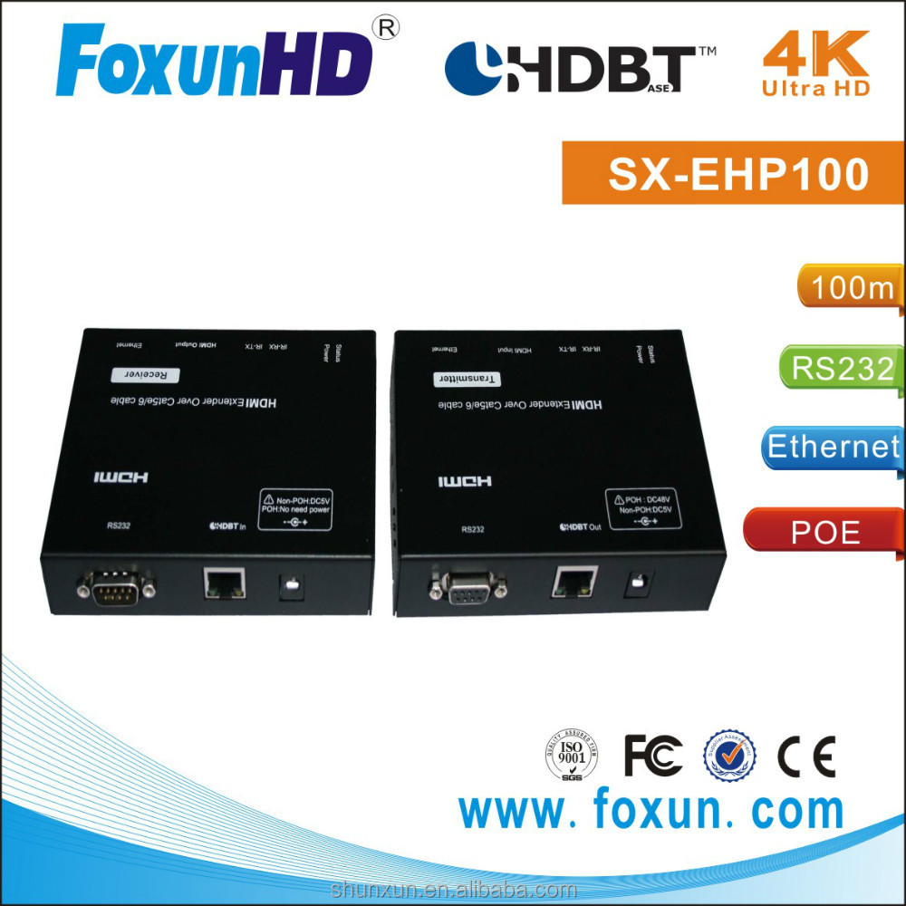 100m and 70m HDBaseT repeater with POE, Ethernet, RS232, CEC,IR pass through)