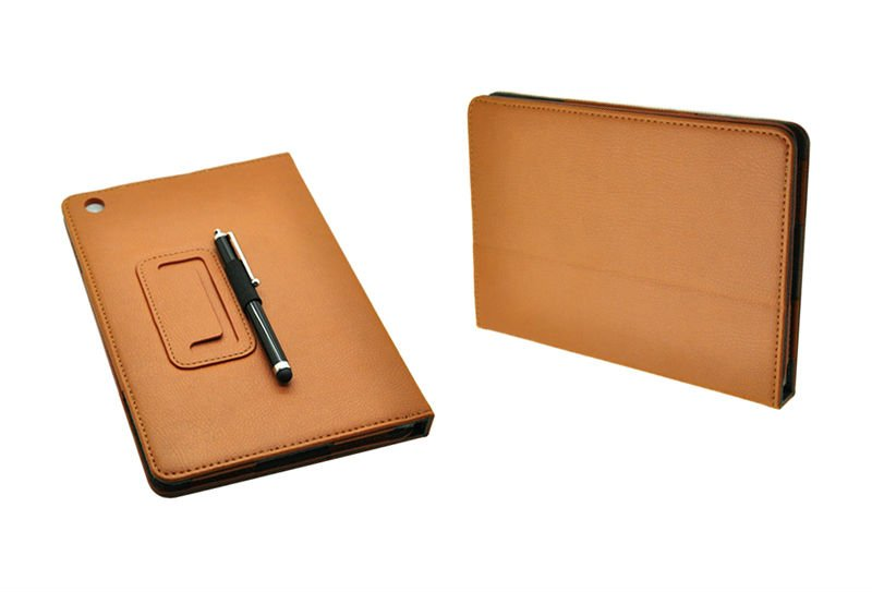 Leather Cover Case for New iPad mini, with stand on the back