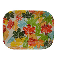 custom plastic serving tray hot rectangular maple leaf printing plate