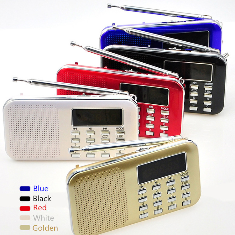 fm radio function lithium battery charging mini mp3 player speaker