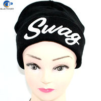 TD0023 Custom Warm China Supplier Embroidery Knitted Cap and Hat