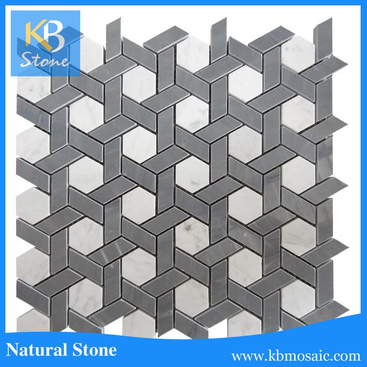 High quality Grey + White Marble Stone Tile