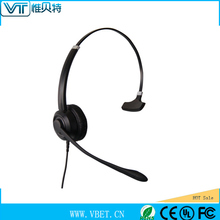 Deluxe Monaural Headset with wireless wifi two ear piece call center headphone