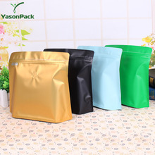 Seal food grade pills aluminum gold foil freezer tri laminate packaging bag for food