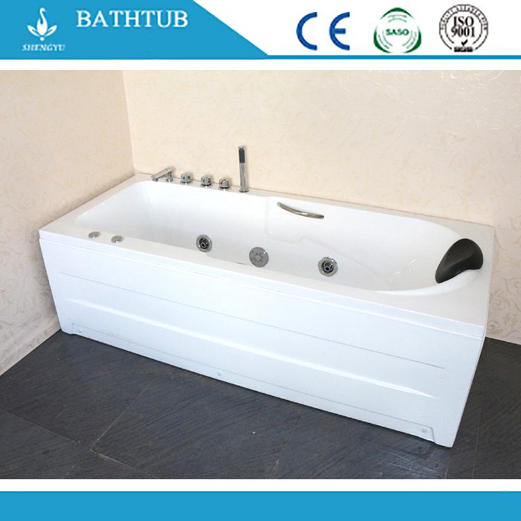 Air Covering Jets Bubble Skirted/ Freestanding Tub Double Apron Bathtub