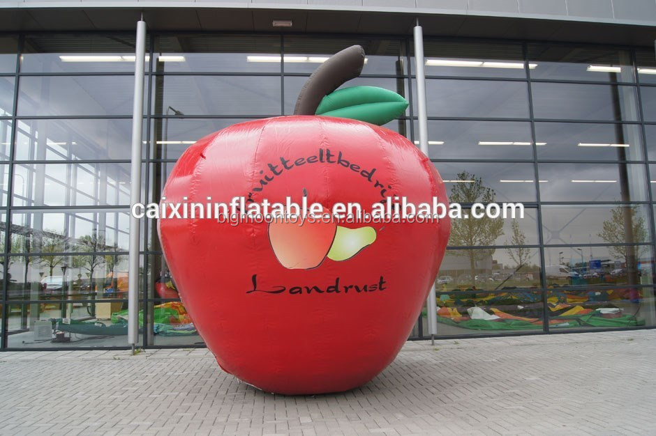 inflatable giant apple/ inflatable customized apple model/ iniflatable cartoon apple for advertising