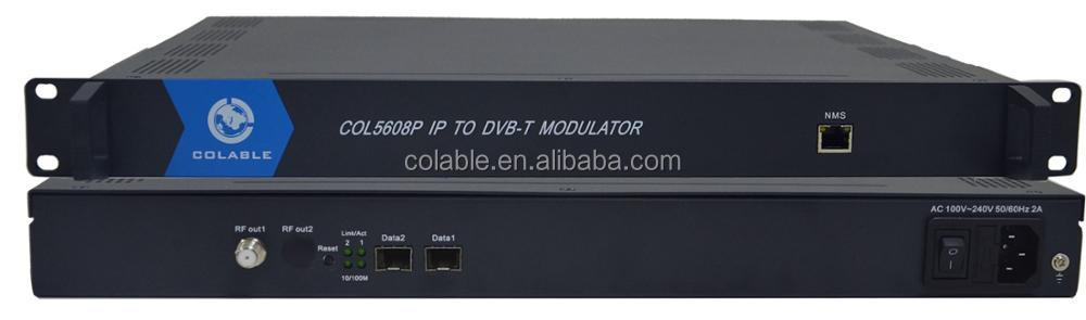 Powerful and Cheap IP to 8 channels dvb-t rf modulator COL5608P