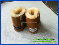 soft sheepskin baby booties shoes