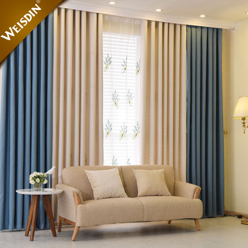 2017 latest curtain designs luxury plain solid color home office hotel window curtain for living room