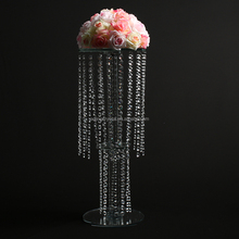 Wedding suppliers decorative cheap crystal flower stand centerpeices for event