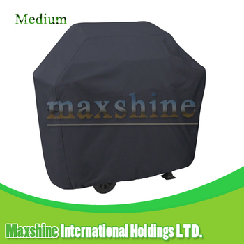 Outdoor Waterproof Medium 58 Inches Black BBQ Grill Cover