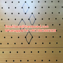 Melamine faced MDF pegboard , peg board , decorative hardboard pegboard MDF