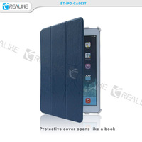 Beautiful protective book style flip leather case for ipad air 2,OEM&ODM is available