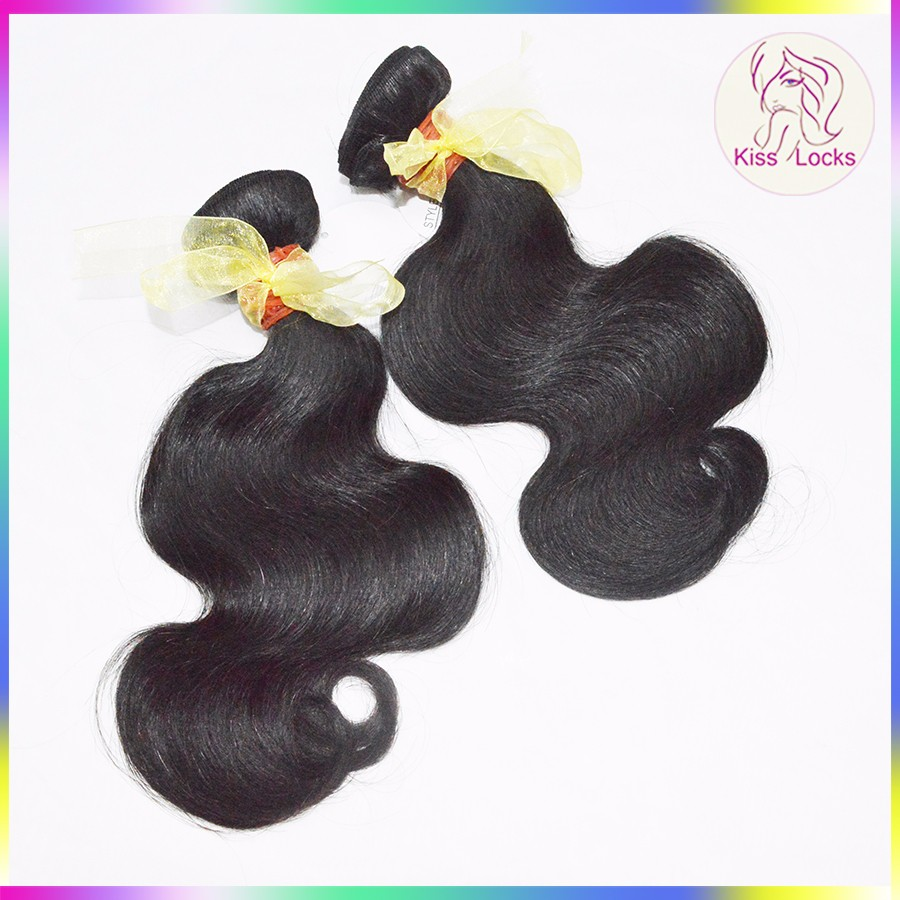 Wavy Laotian Human Unprocessed Virgin Hair Weave Thick Body Wave Bundles Fast Shipping