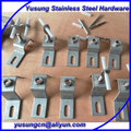 Stone anchor cladding fixing system
