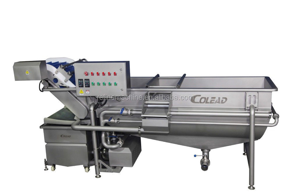 vegetable washing machine/TS Horizontal type mixed flow spraying machine/leaf vegetable processing line