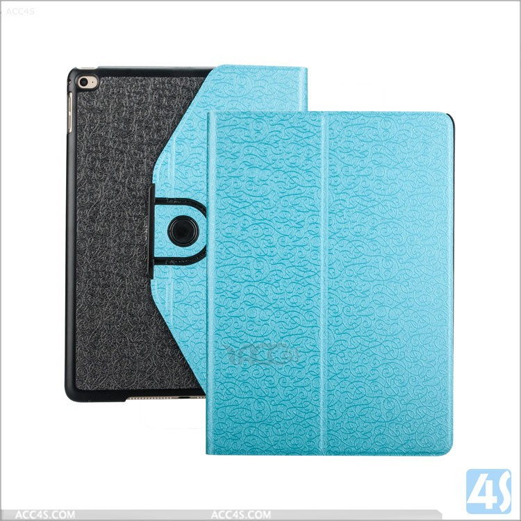 For iPad Air2 360 Rotating Leather Case, For ipad 6 smart cover leather