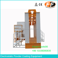 Cyclone Electrostatic Powder Coating Spray Booth with Paint Robot