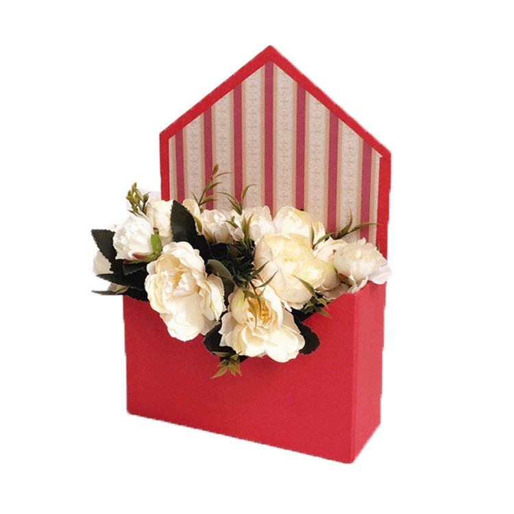 (In Stock)Manufacturer Wholesale Envelope Shaped Paper Flower Box