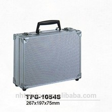 Silver ABS Custom Aluminum Briefcase Lawyer Birefcase Tool Box