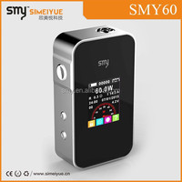 SMY mini 60w variable wattage box mod new rebuildable Lemo2 Lemo ll new arrival, support DIY style