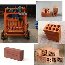 Manual small and Pressure 20KN ecological building material clay brick making machine with molding 2,3,4,5,6,12 block brick