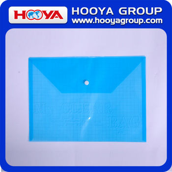 wholesale promotional cheap stationery transparent plastic document bag