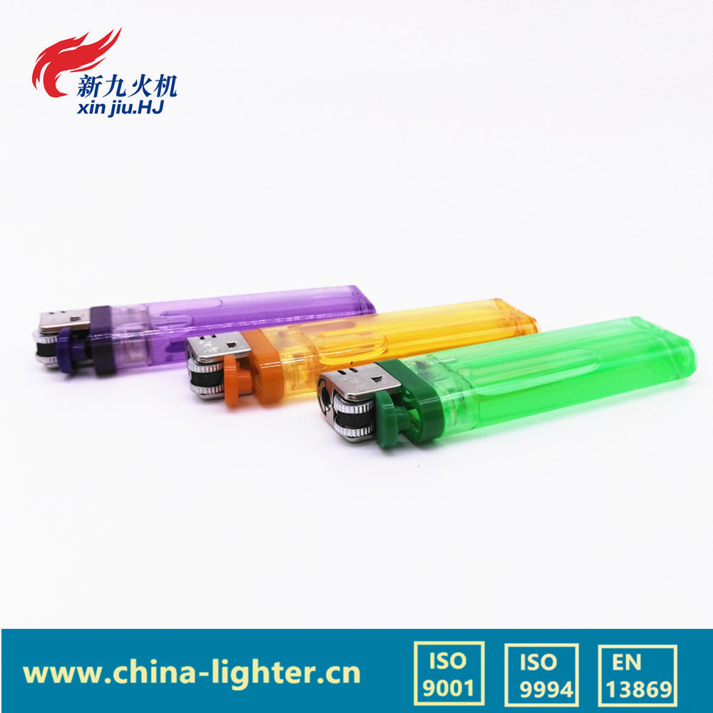 plastic material disposable BIC flint flame 5 color cigratte gas lighter/safety gas lighter