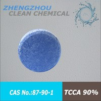 High quality Drinking water chlorine tablet TCCA 90% / Trichloroisocyanuric acid 200g