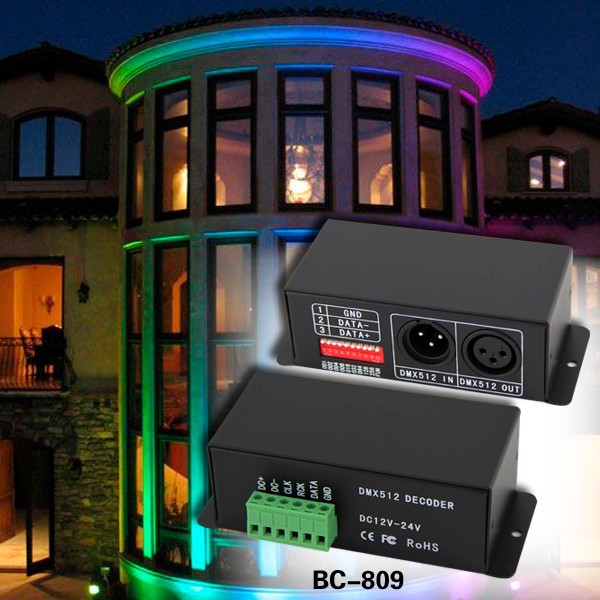 Constant current 350ma 700ma 12v-48v dmx led rgb controller dmx512 strip decoder