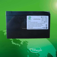 electric dynamic car lifepo4 battery pack UN38.3 12v 7ah battery deep cycle lithium ion battery