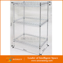 NSF approved chrome wire shelving