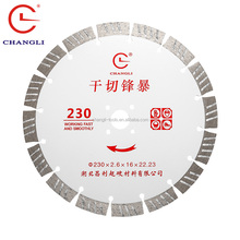Professional dry cutting series blade, 230mm diamond saw blade for granite