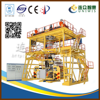 Uniwis brand water-cooling double layer film blowing machine