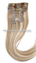 online hot selling crown hair 26 inch human hair remy clip in hair extensions