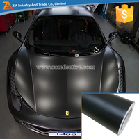 1.52*30M Full Body Sticker Car Covering and Wrapping Film With Bubble Free Adhesive Matte Black Color Change Car Vinyl Wrap 3M