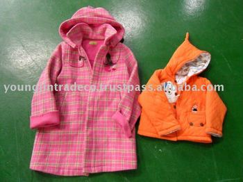 Used Clothing, Children's Winter Zipper Jackets/Coats