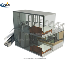 2 bedrooms cheap prefab luxury container house