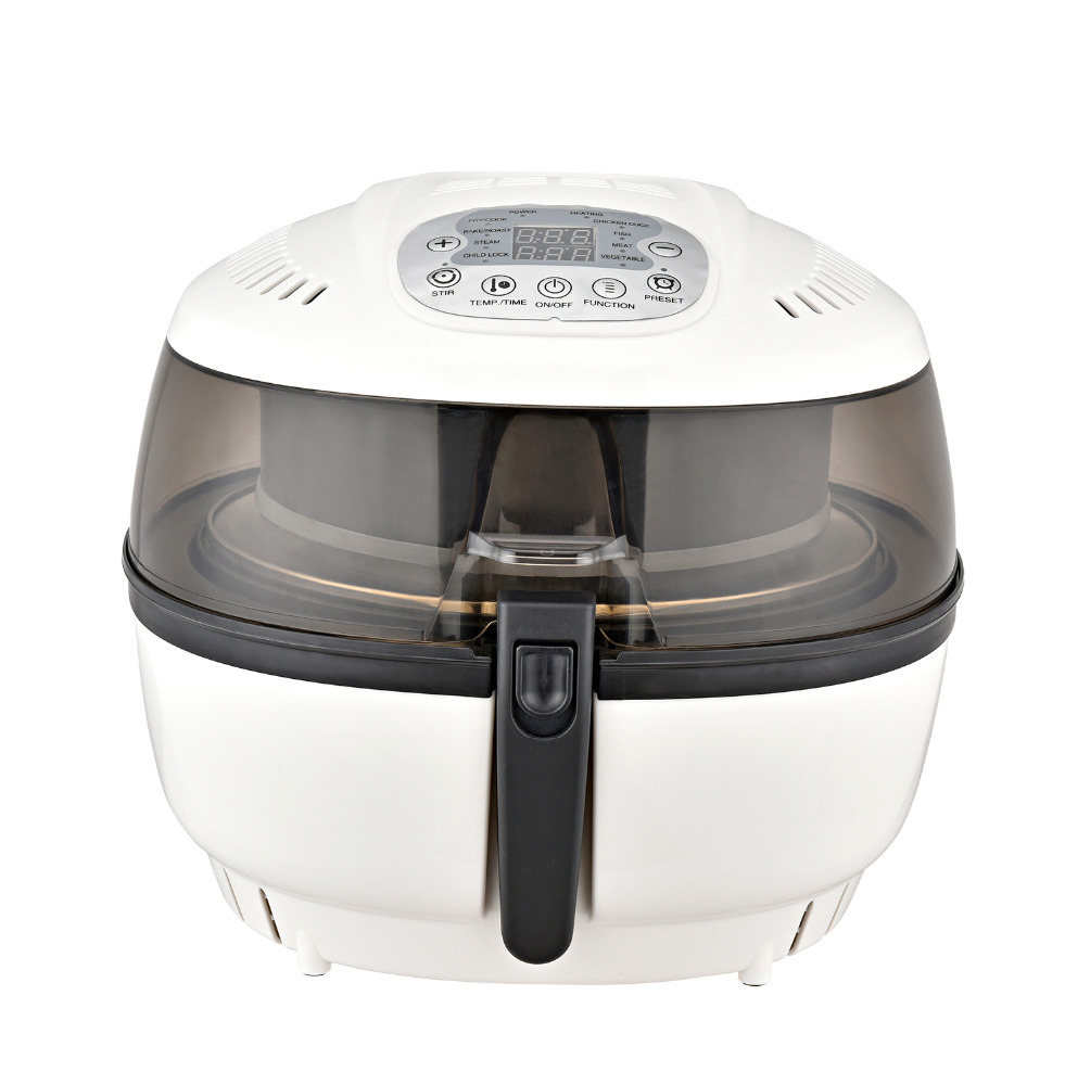 Glip 7 Liter High Speed Oil-Less Fryer 1400W Kitchen Air Oilless Fryer White NEW