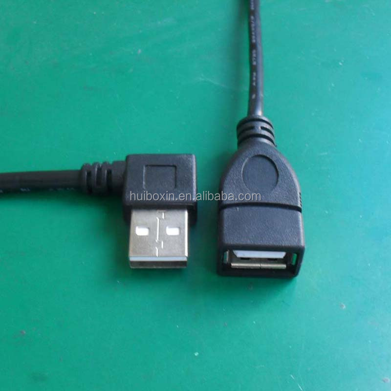 USB 2.0 Right Angled 90 degree A type male - Female extension cable