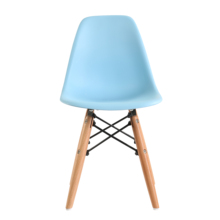 Modern High Back Wooden Leg Plastic Dining Chair Home <strong>Furniture</strong>
