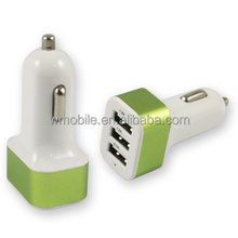 High Quality Triple USB Car Charger Adapter Mini 5V 5.1A Voltage 12v 220v Car Battery Charger