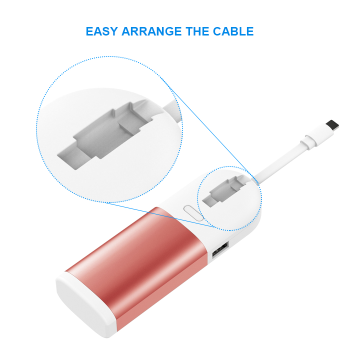 MFI certified 3 in 1 Bult-in cable multi-functional for Watch tablet power bank