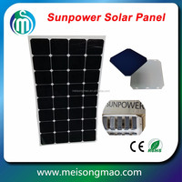 100 watt flexible monocrystalline solar panel with Sunpower solar cells