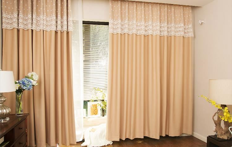ready made curtain solid pure color curtains luxury lace curtain