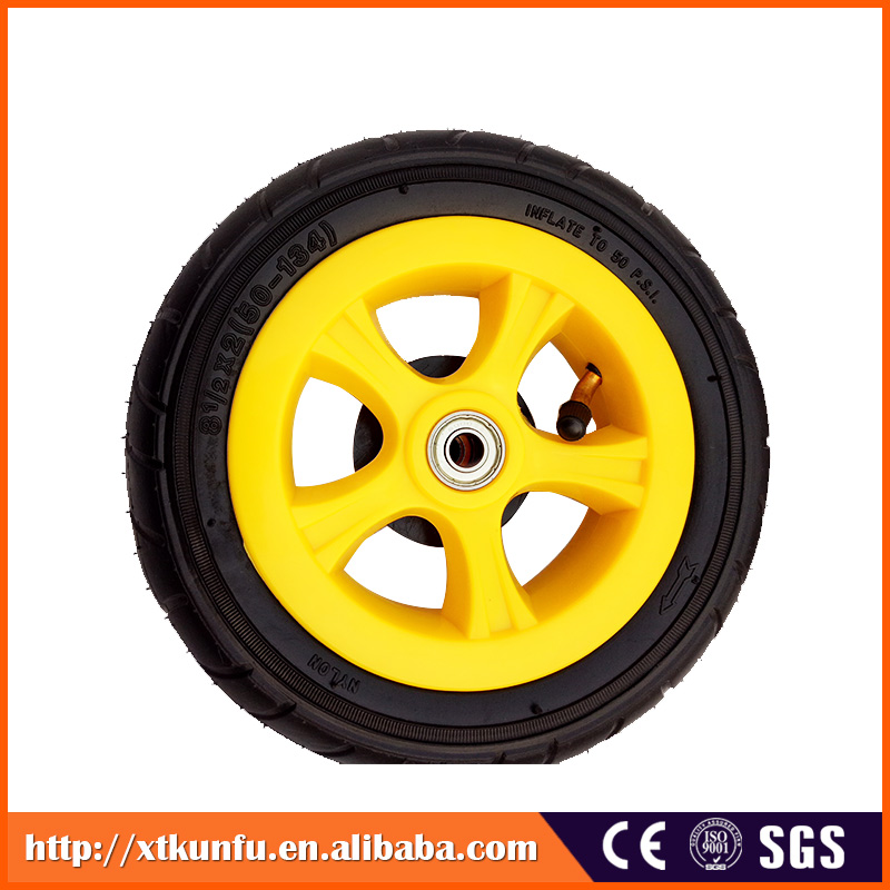 High Quality baby twins tricycle 12 inch stroller wheel