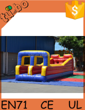 hot sale custom PVC 2 lane bungee run, inflatable 2 lane bungee run for adult and children