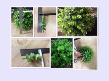 Ornaments type artificial grass ,Artificial boxwood ball with green ornamental plants for Garden and outdoor decorations