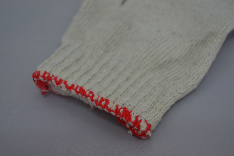 10 gauge blenched white knitted cheap price cotton glove